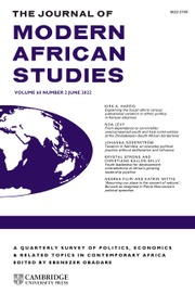 The Journal of Modern African Studies